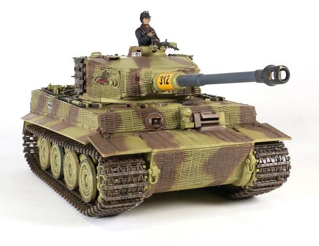 Tanc radiocomandat 1/24 PzKpfw VI Tiger late production Torro IR Sistem lupta