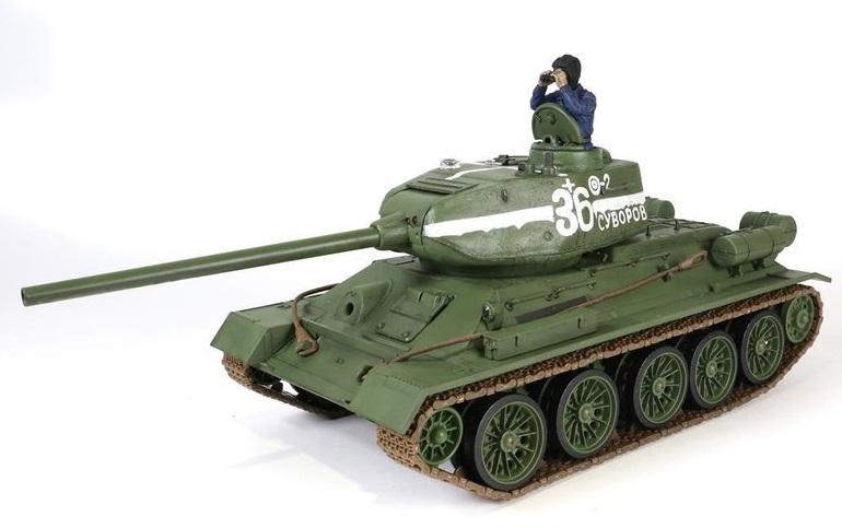 Tanc radiocomandat 1/24 T-34/85 Torro IR Sistem lupta