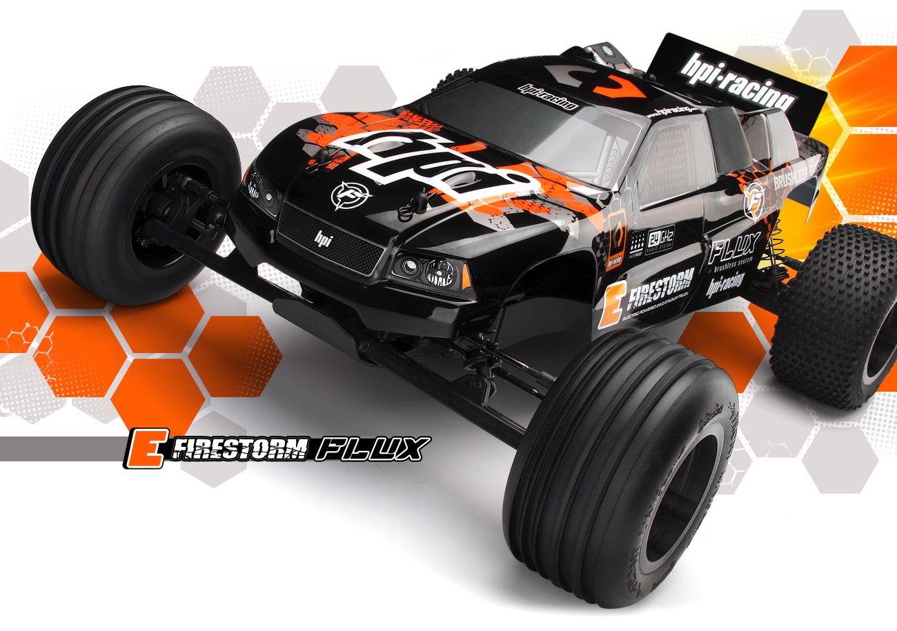 Automodel RC Hpi E Firestorm Flux Stadium Truck