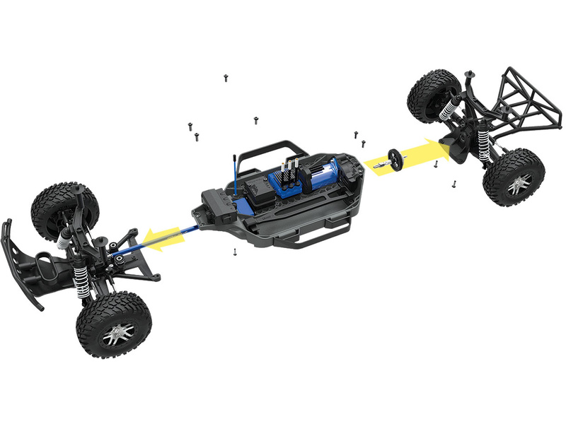 Automodel Traxxas Slash 4WD VXL Tqi OBA TSM LCG