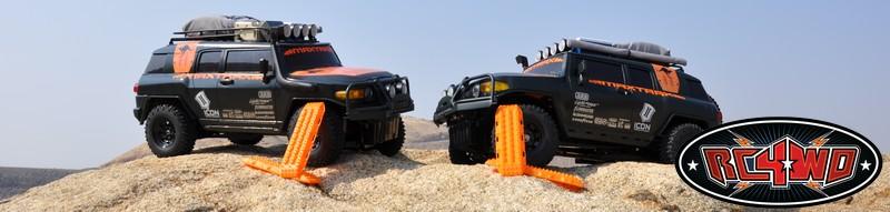 Set Rampe de Recuperare RC4WD MAXTRAX 1/10 (FJ Rosu/2 buc)
