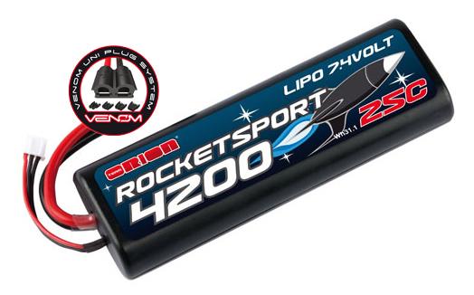 Rocket Sport 4200 LiPo 7,4V (Tamiya,Dean's,TRX, EC3 Venom Plug)