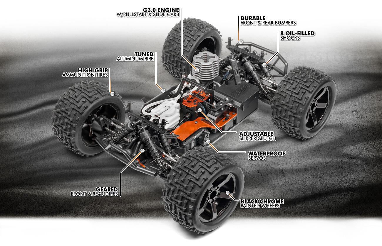 Automodel Hpi Racing Bullet ST Nitro 3.0cc RC cu telecomanda 110661