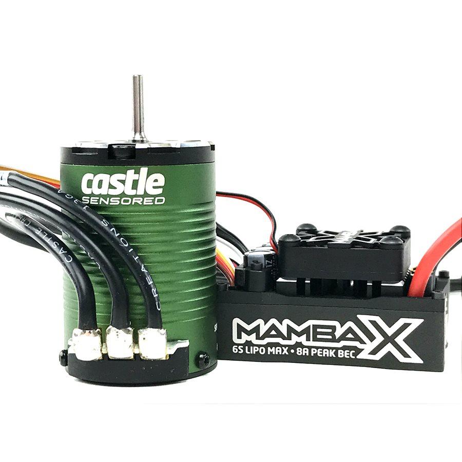 COMBO CASTLE MAMBA X SCT PRO/ SENSORED/ 25.2V WP CU MOTOR 1410-3800KV