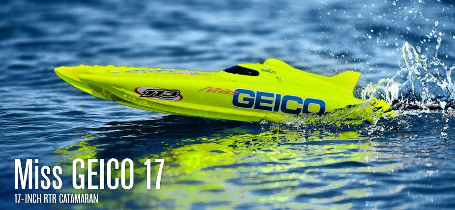 "Navomodel Proboat Miss Geico 17"" RC Telecomanda"
