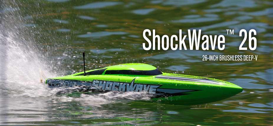 Navomodel cu telecomanda Proboat Shockwave 60km/h