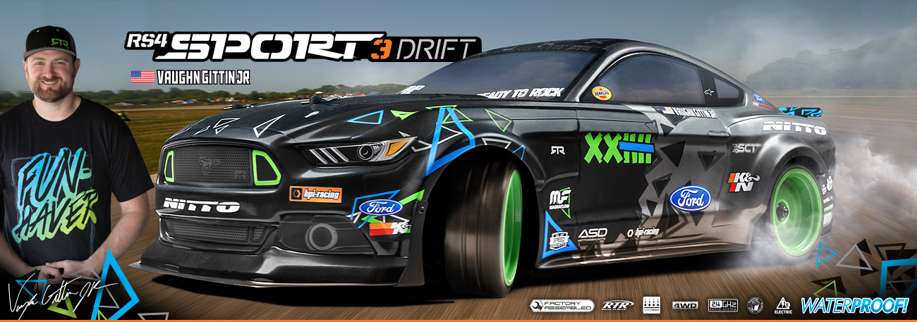 Automodel RC VGJR Monster Energy Ford Mustang RTR